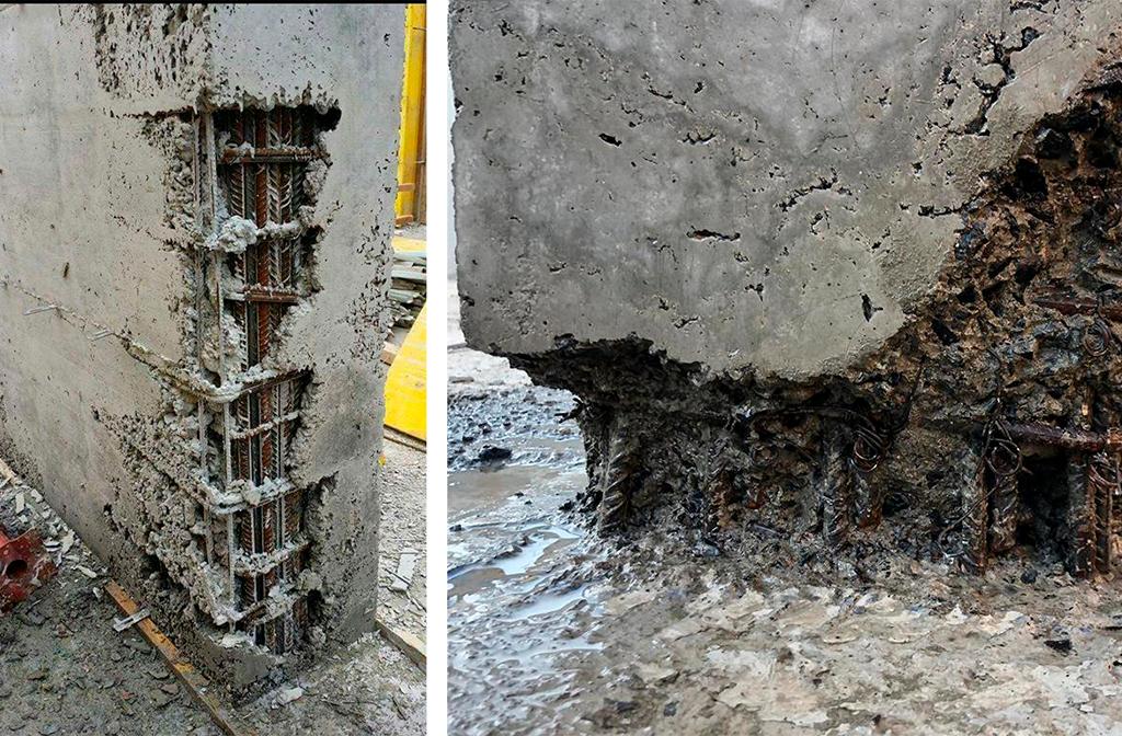 Mal vibrado del concreto
