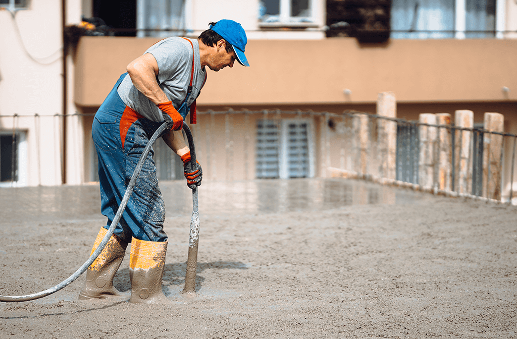 Proceso de vibrado del concreto